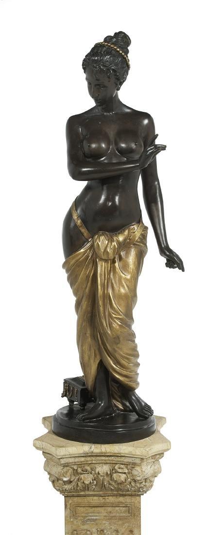 "Patinated and Gilt-Bronze Figure of ""Venus"" - 2"
