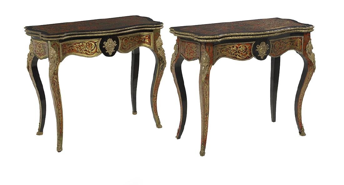 Pair of Napoleon III Boulle Games Tables