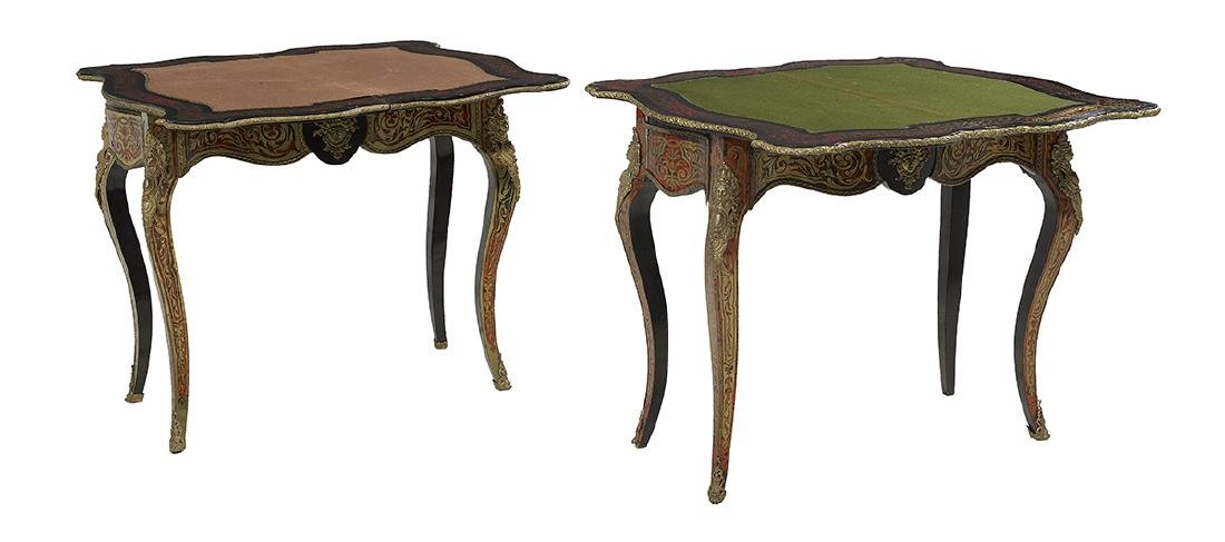 Pair of Napoleon III Boulle Games Tables - 2