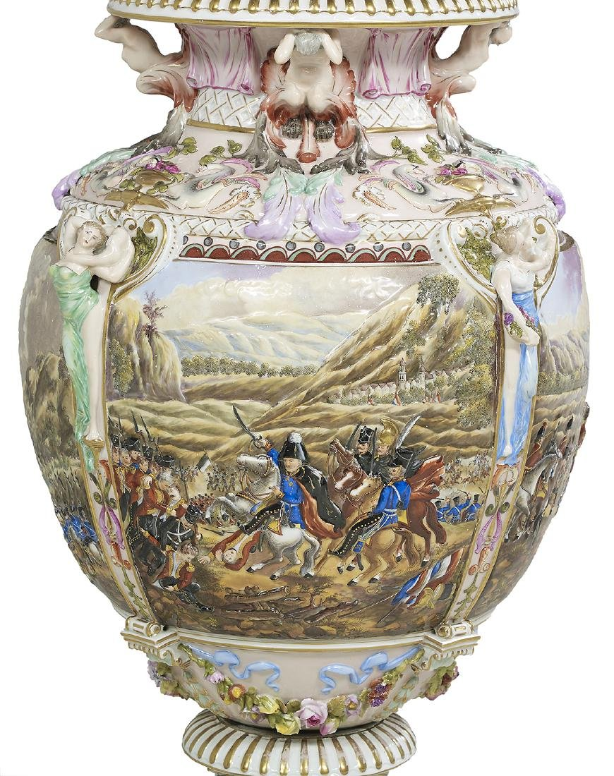 Capodimonte Molded and Polychrome Vase - 2