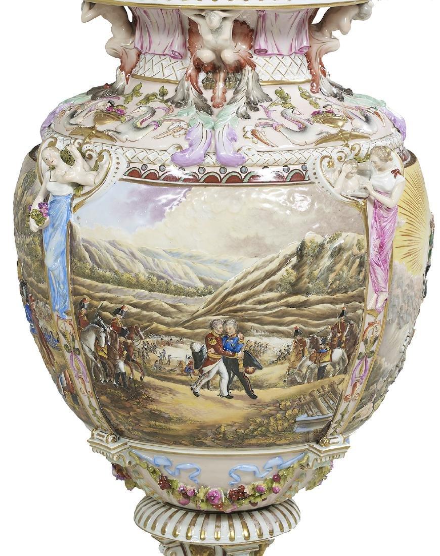 Capodimonte Molded and Polychrome Vase - 3
