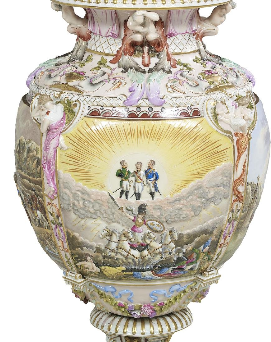 Capodimonte Molded and Polychrome Vase - 5