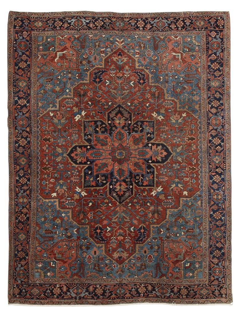 Semi-Antique Heriz Carpet