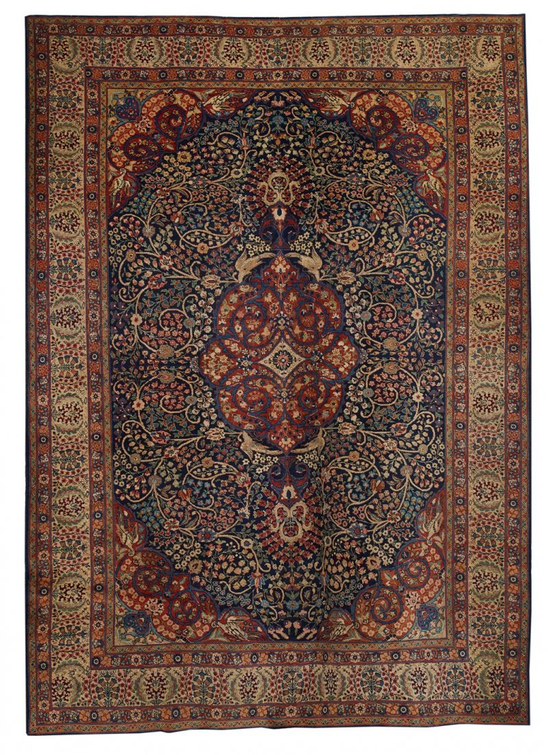 Semi-Antique Kerman Carpet