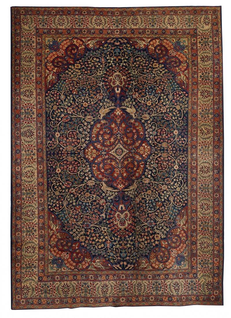 Semi-Antique Kerman Carpet