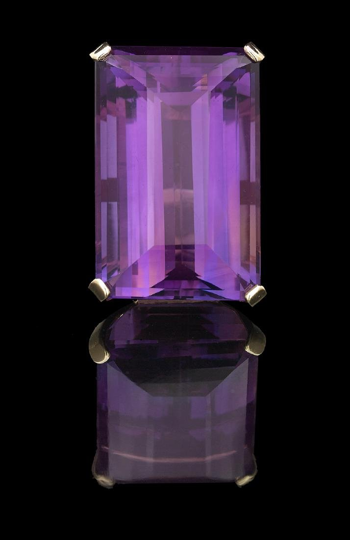 Large Amethyst Cocktail Ring