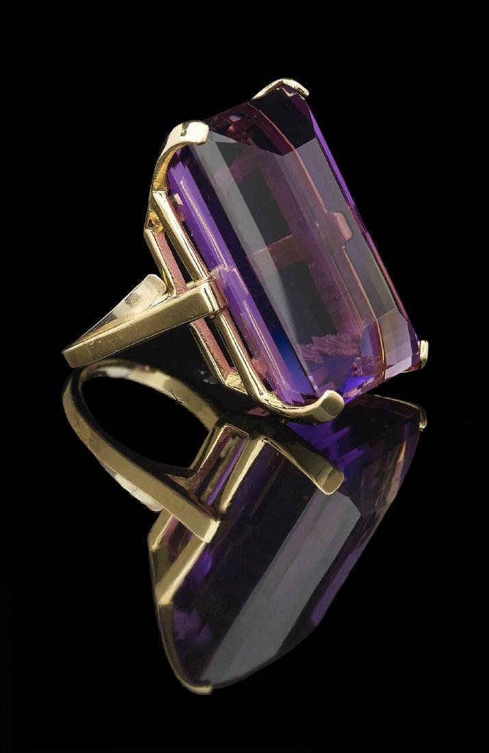 Large Amethyst Cocktail Ring - 2