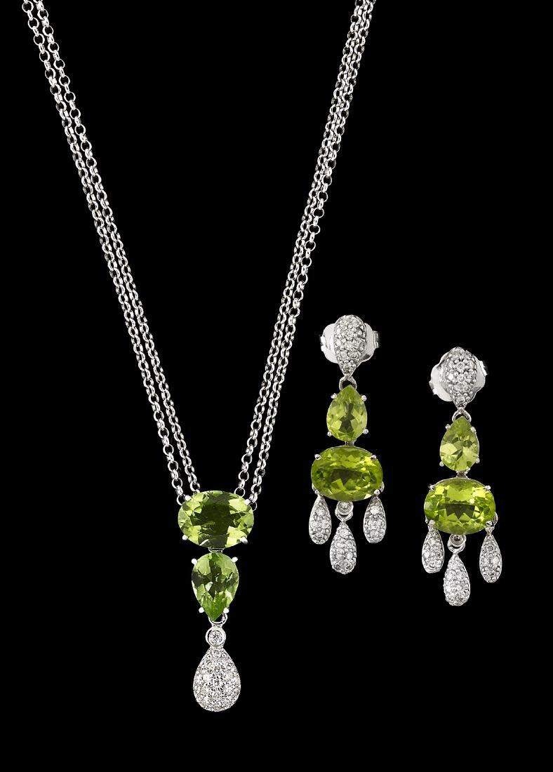 Peridot and Diamond Jewelry Suite