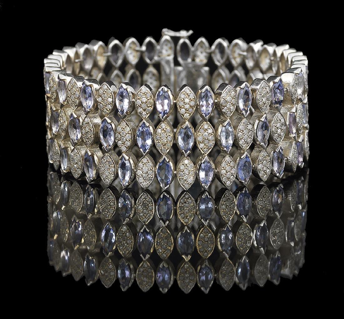 Tanzanite and Diamond Bracelet - 2