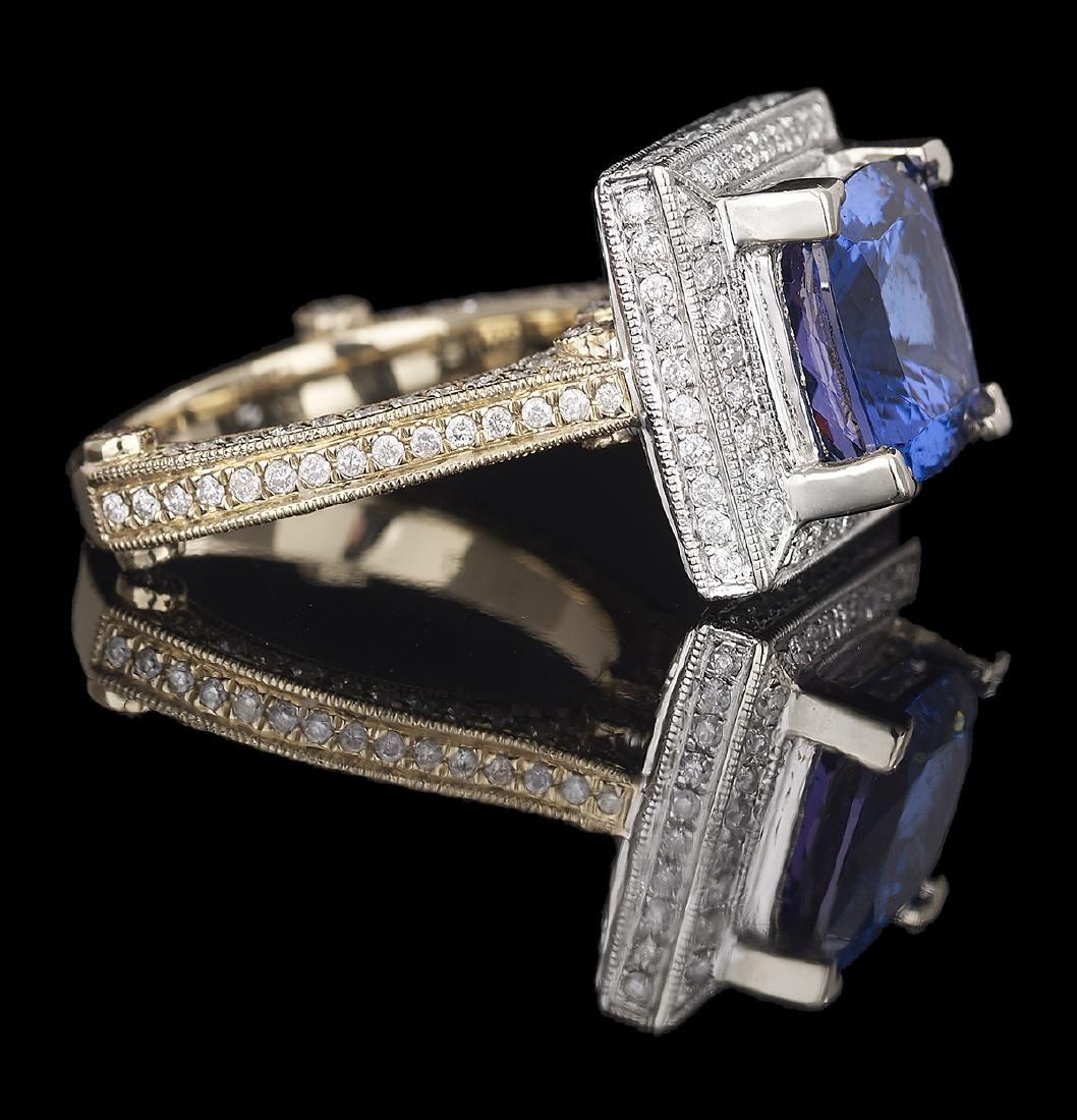 Tanzanite and Diamond Ring - 2