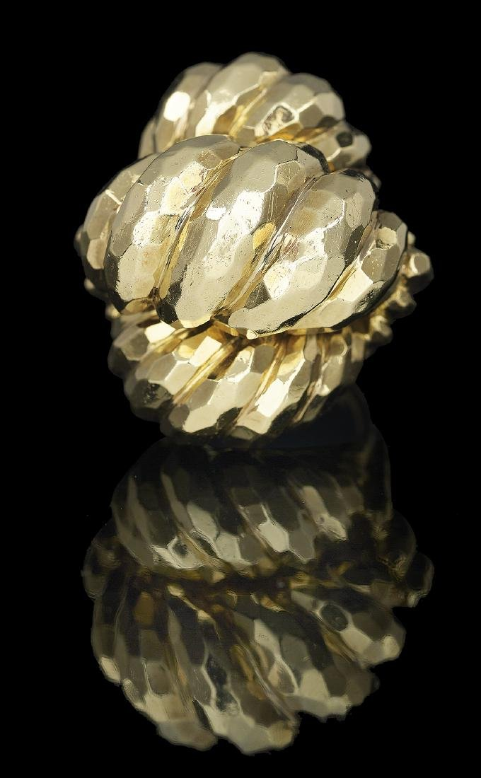Henry Dunay Hammered Gold Ring