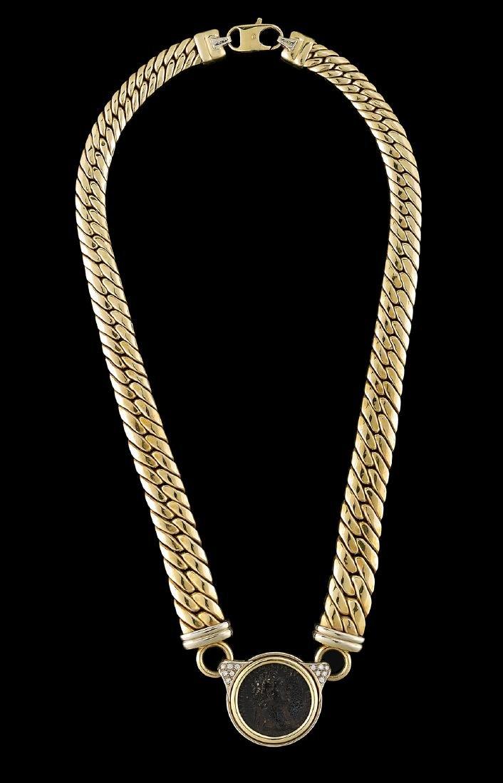 """Italian """"Roman Coin"""" Necklace"""