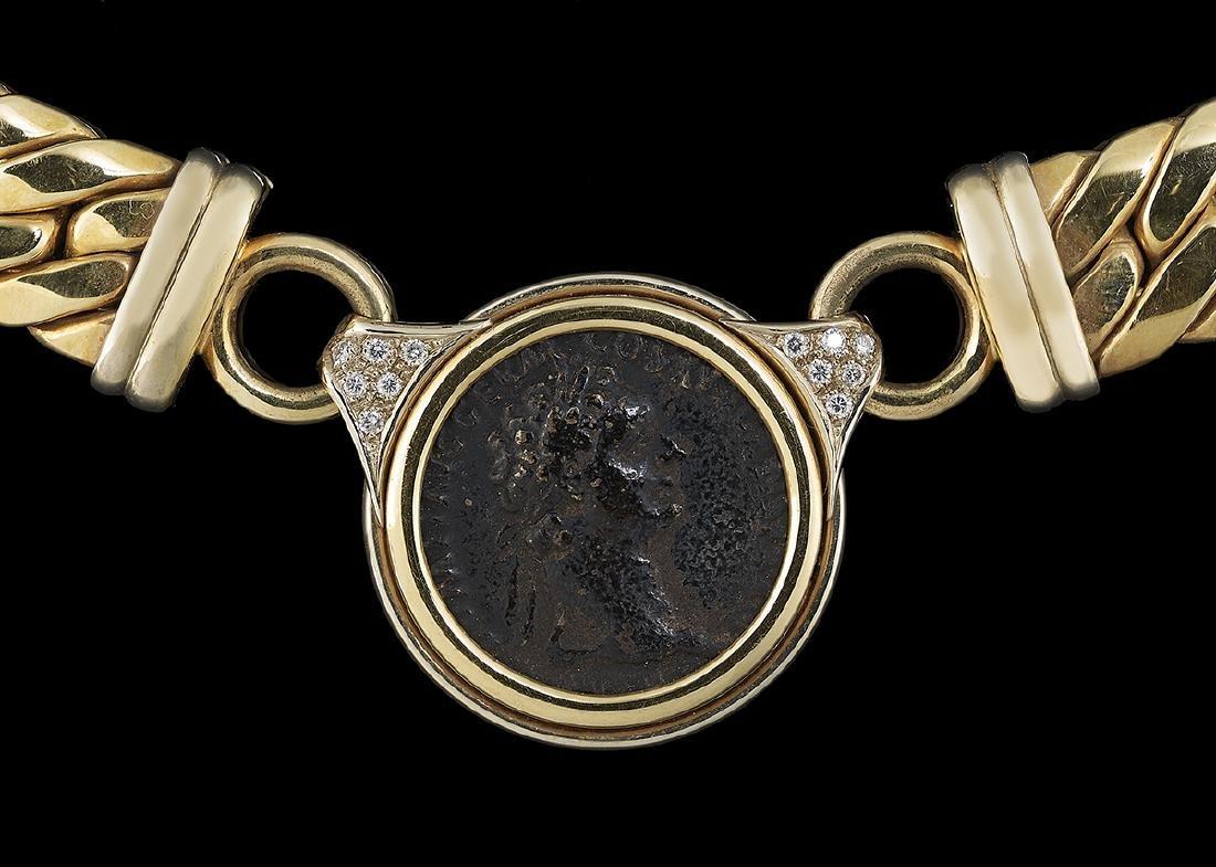"""Italian """"Roman Coin"""" Necklace - 2"""