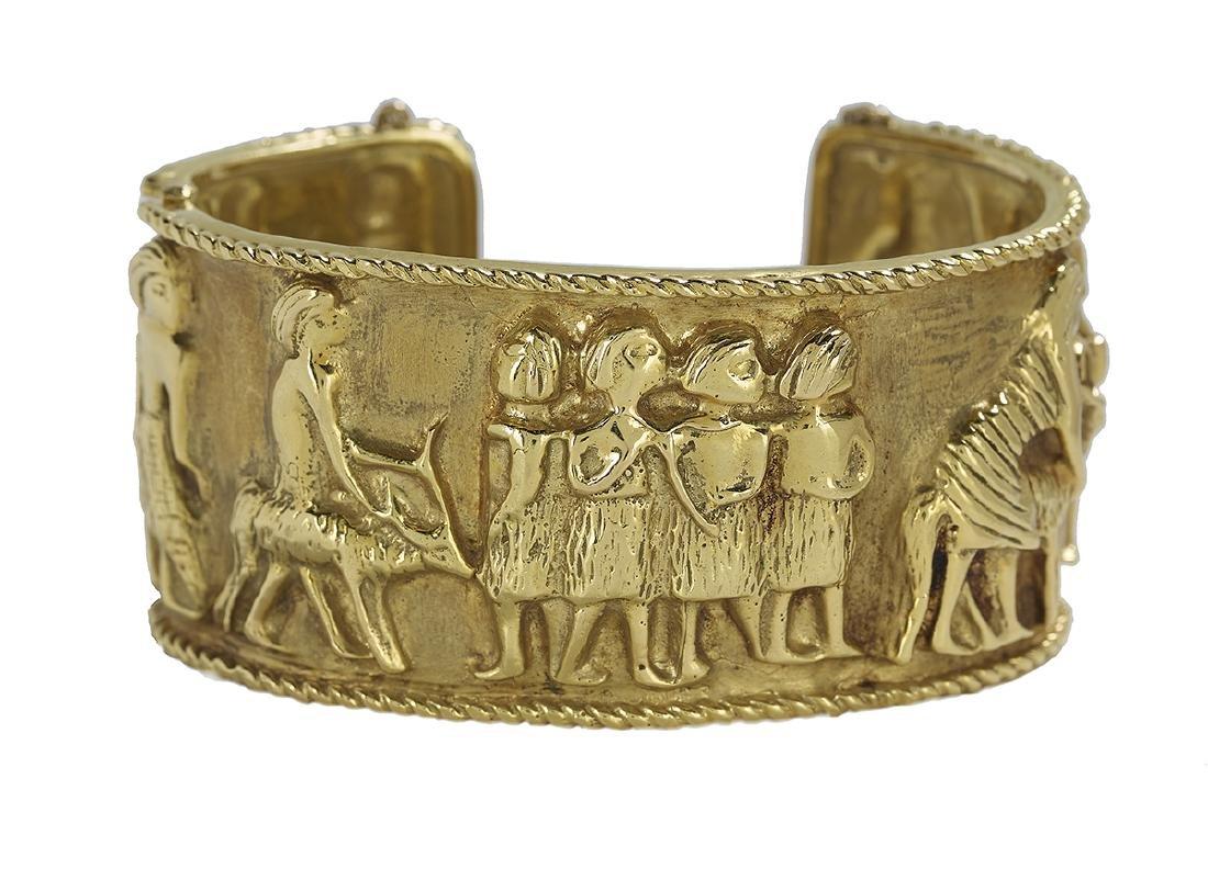 Gold Cuff Bracelet - 2