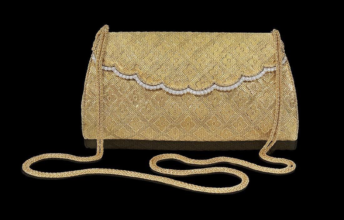 Van Cleef & Arpels Gold and Diamond Evening Bag