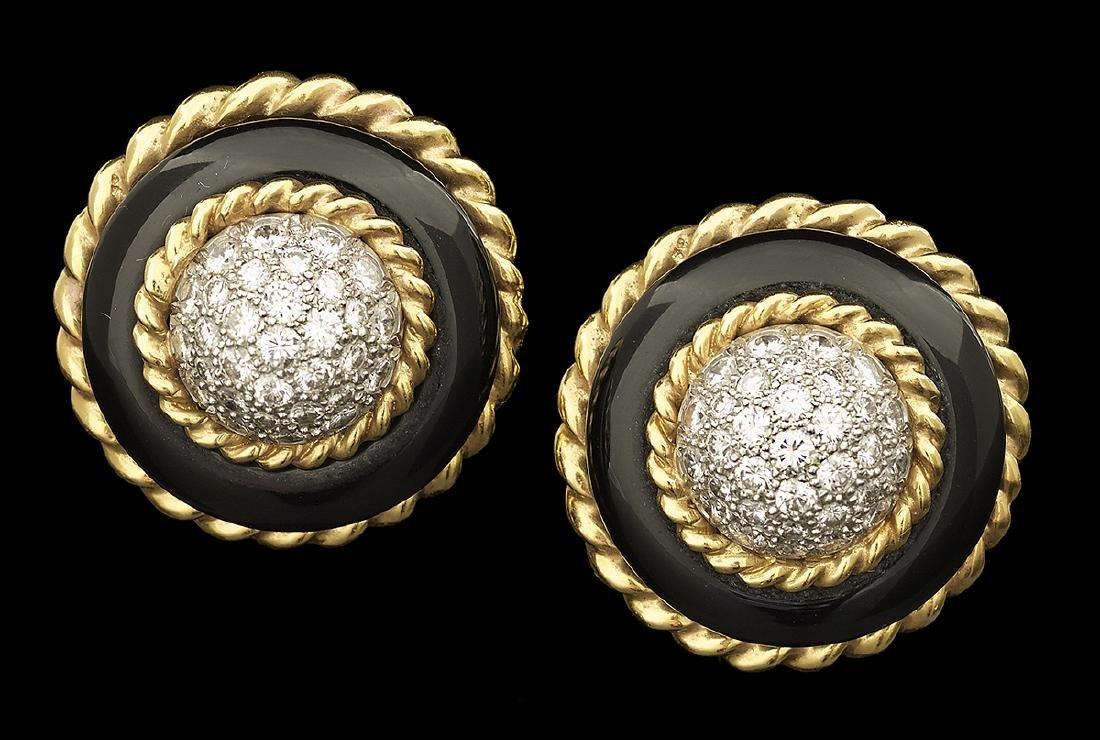 Van Cleef & Arpels Diamond Ear Clips