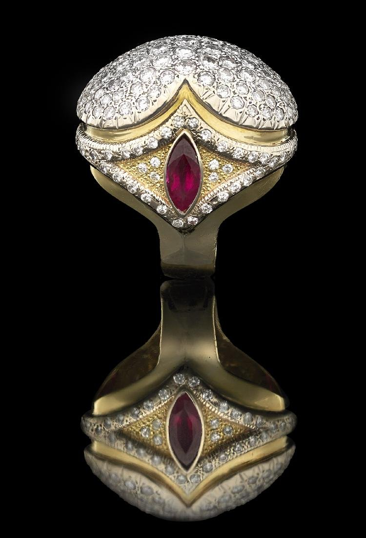 Stunning Diamond and Ruby Ring