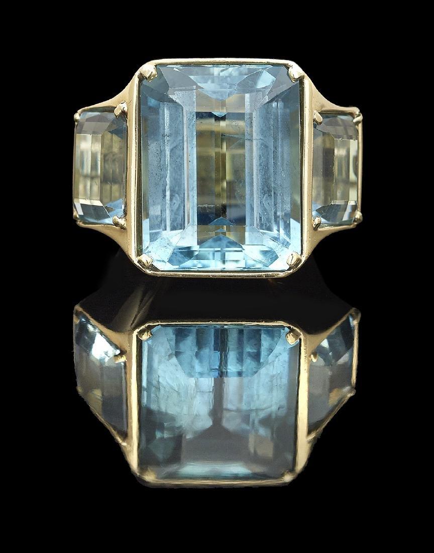 Large Aquamarine Ring