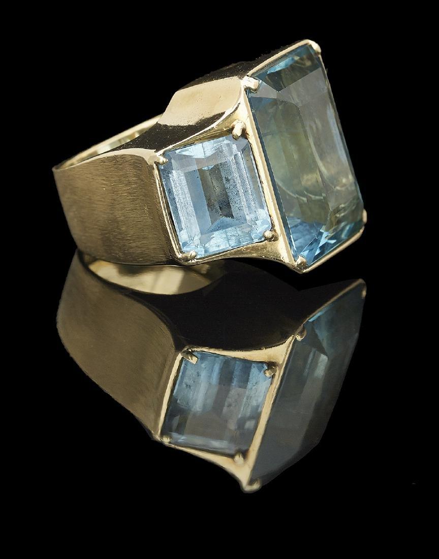 Large Aquamarine Ring - 2