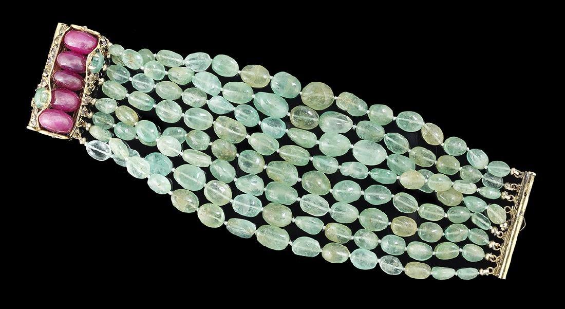 Iradj Moini Multi-Strand Colored Stone Bracelet