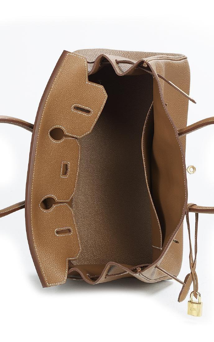 """Hermes """"Birkin 35"""" Gold Togo Leather Handbag - 4"""