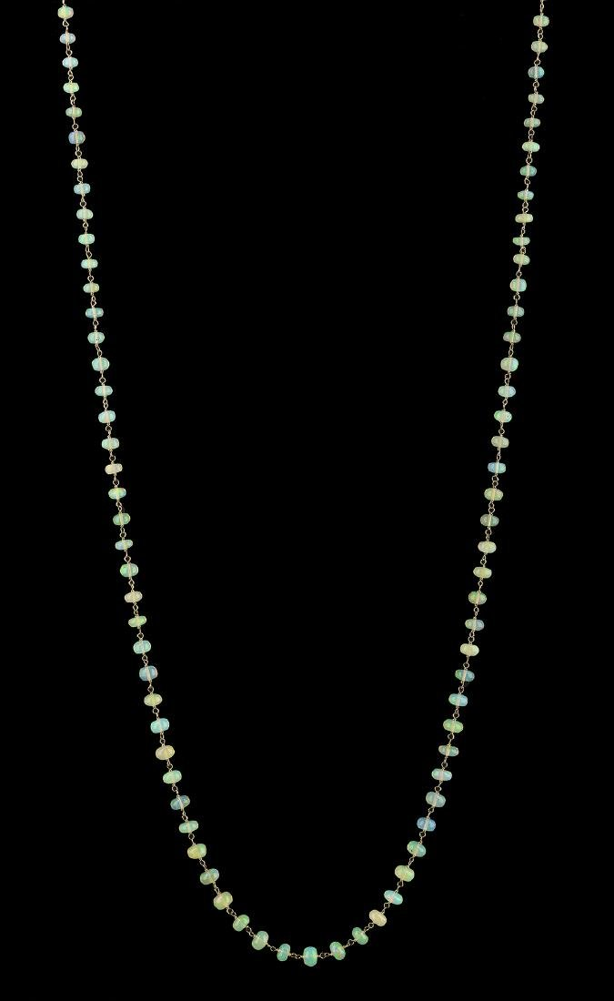 Long Opal Necklace