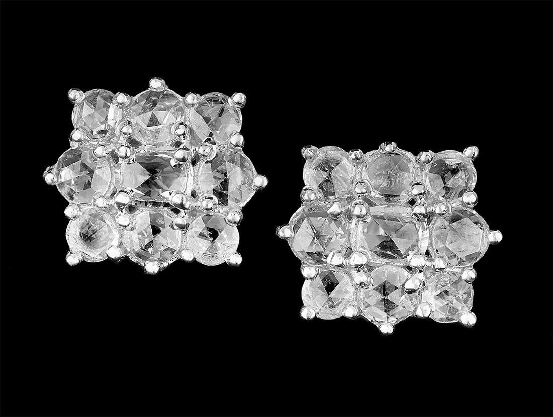 Beautiful Rose-Cut Diamond Earrings