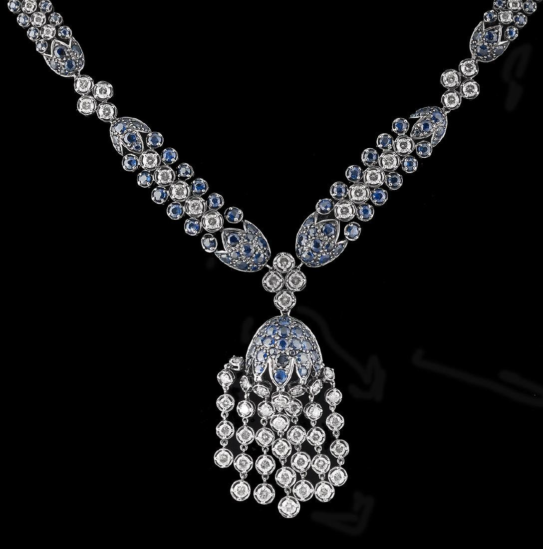 Sapphire and Diamond Necklace - 2