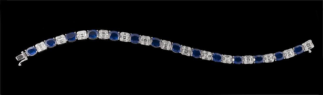 Sapphire and Diamond Bracelet - 2