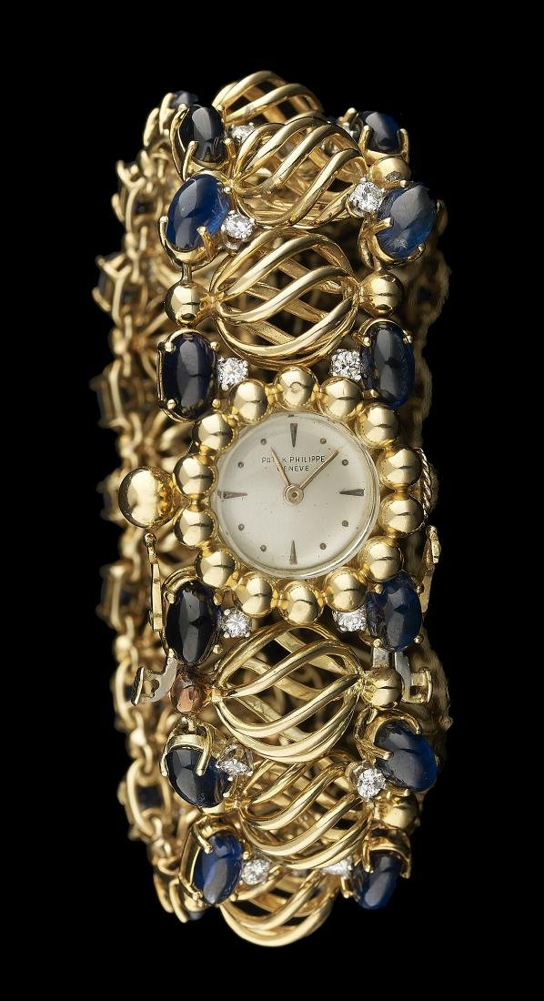 Patek-Philippe Sapphire and Diamond Wristwatch