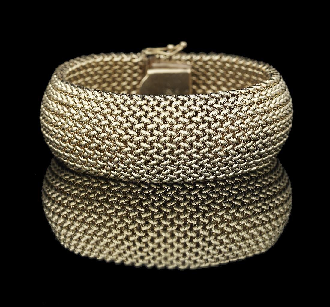 Woven Gold Bracelet