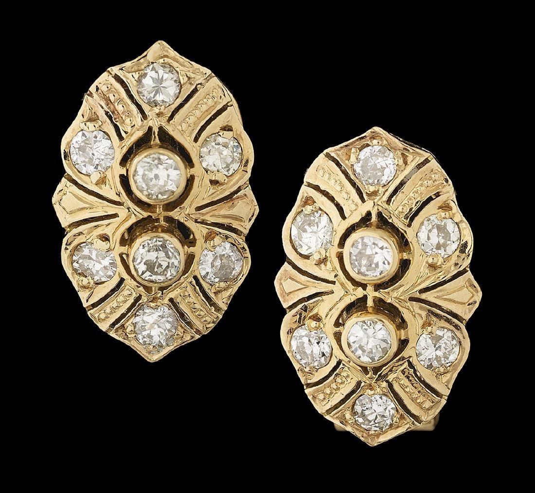 Belle Epoque-Style Diamond Earrings