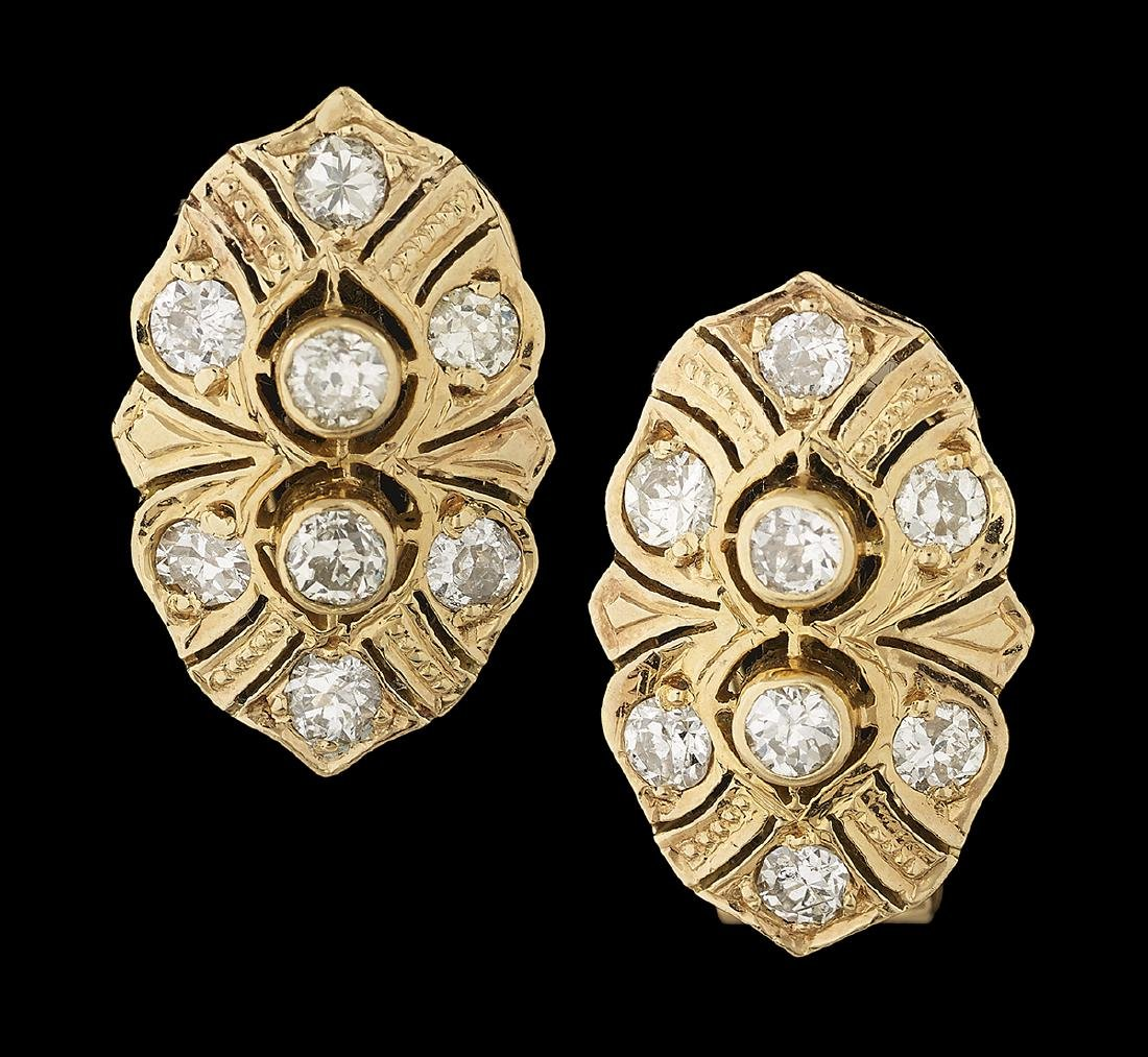 Belle Epoque-Style Diamond Earrings