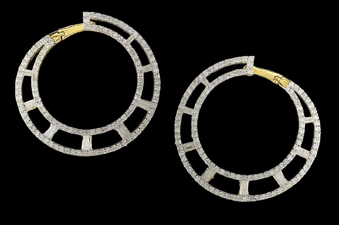 Front-to-Back Diamond Hoop Earrings