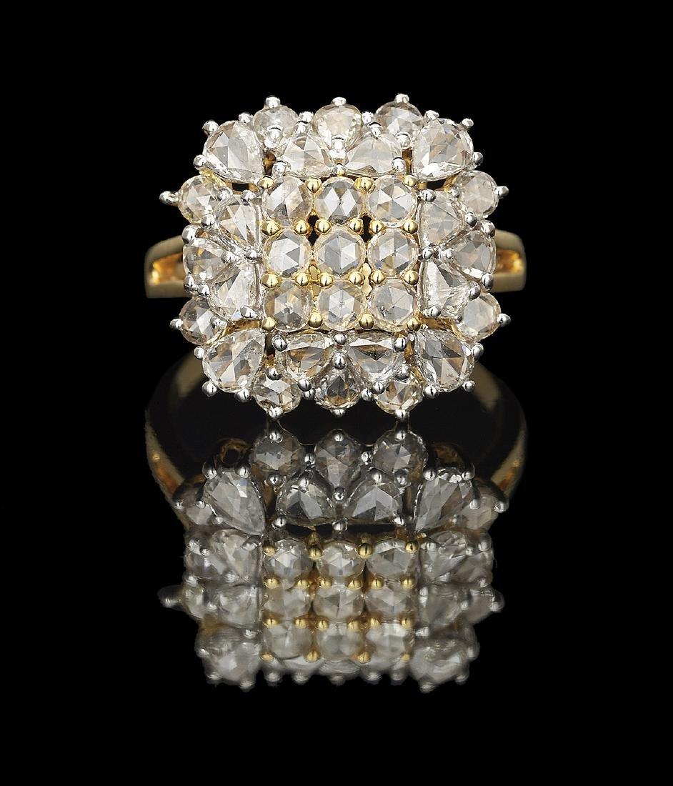 Rose-Cut Diamond Ring