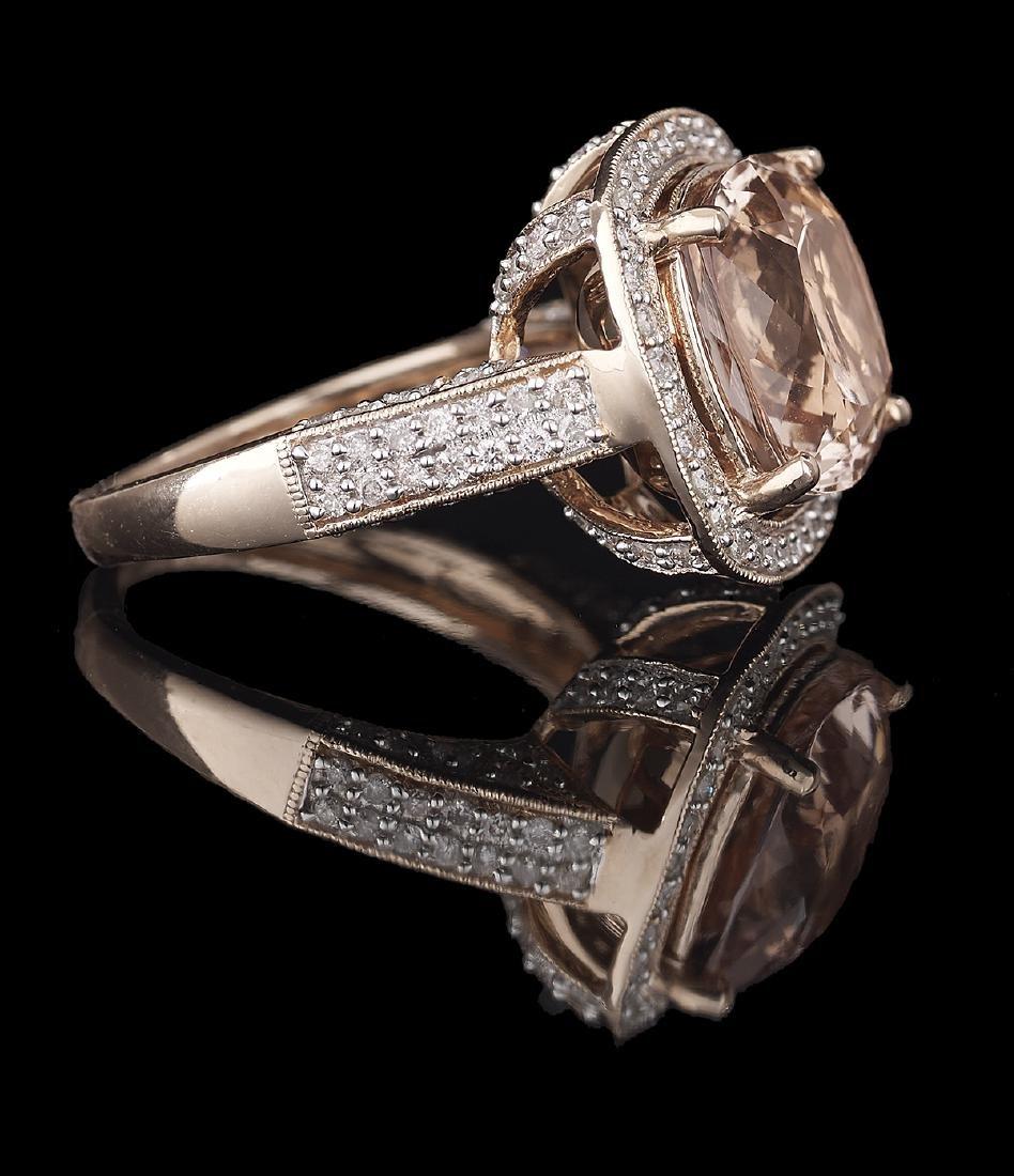 Morganite and Diamond Ring - 2