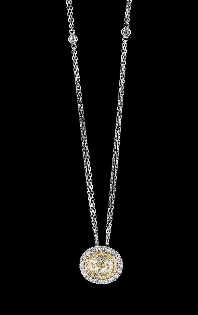 Diamond Pendant on Chain
