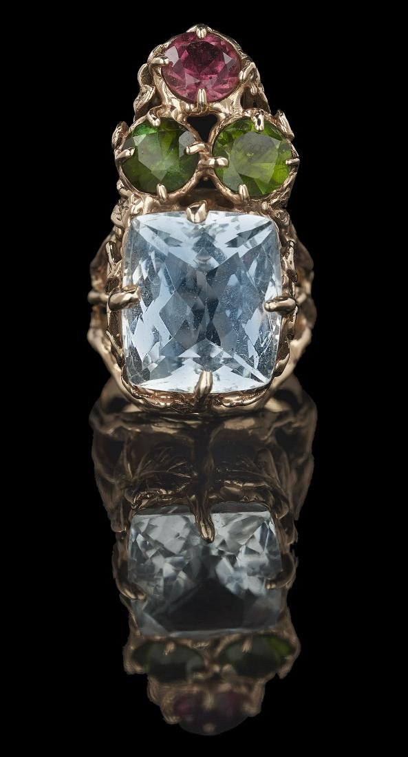 Unusual Gemstone Ring