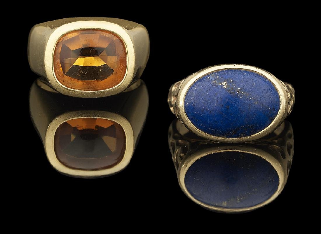 Two Men's Gemstone Rings
