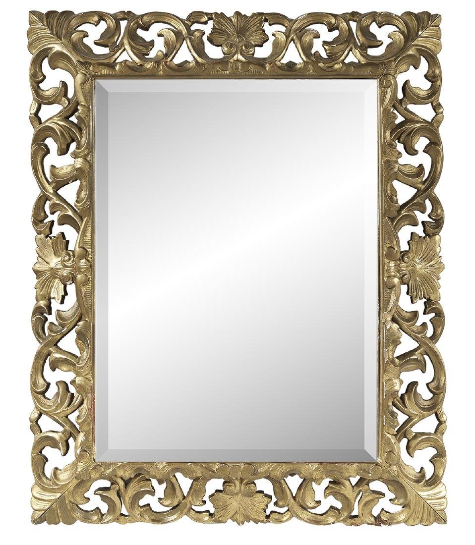 Spanish Baroque Style Giltwood Mirror