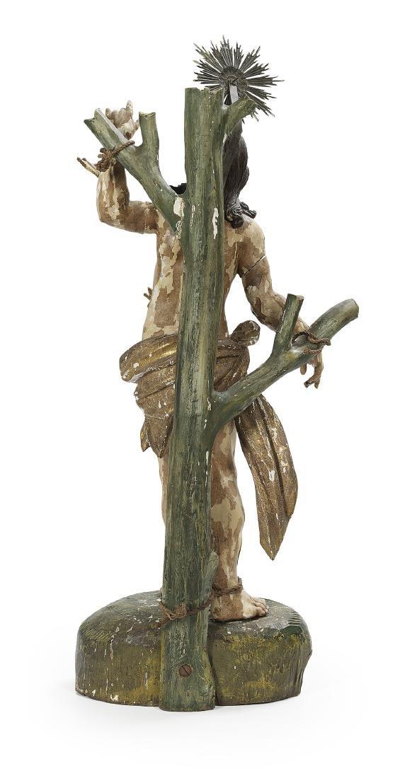 Italian Wooden Altar Figure of Saint Sebastian - 2