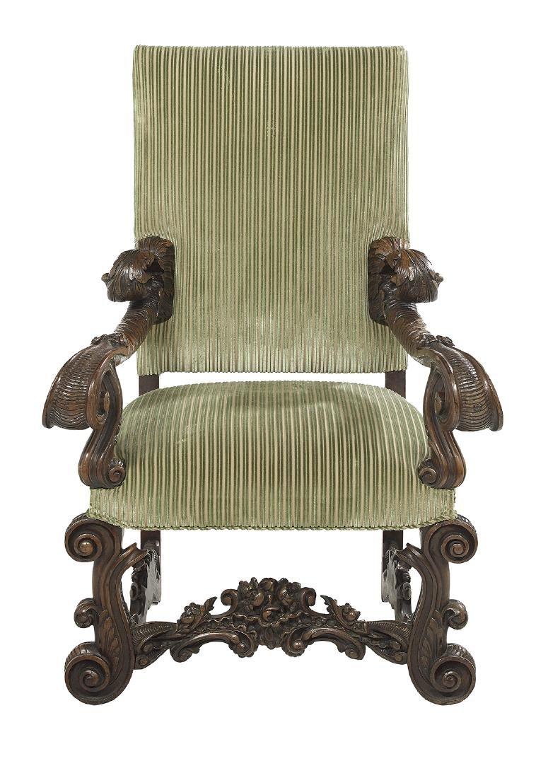 Continental Walnut Hall Chair