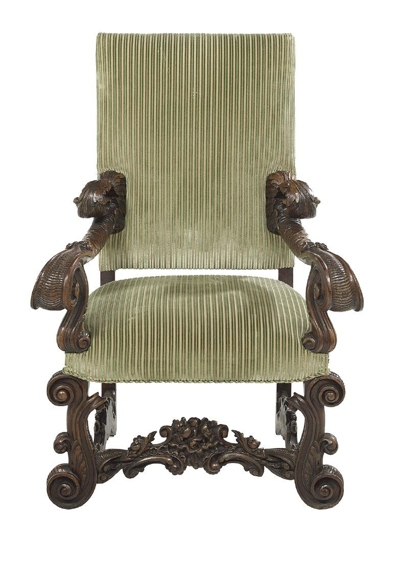 Continental Walnut Hall Chair