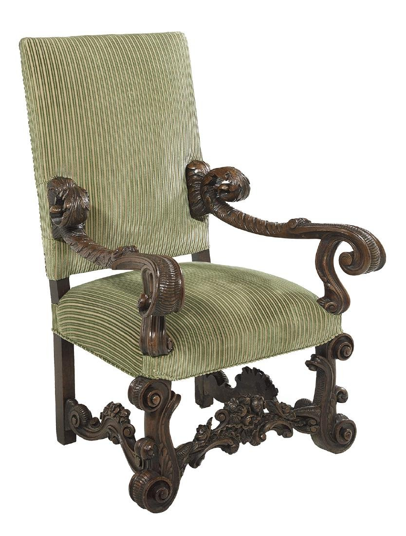 Continental Walnut Hall Chair - 2