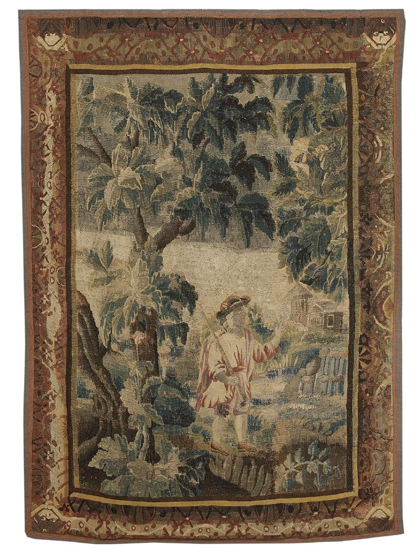 Verdure Tapestry of a Shepherd in a Lush Park