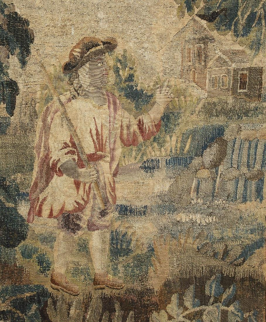 Verdure Tapestry of a Shepherd in a Lush Park - 2
