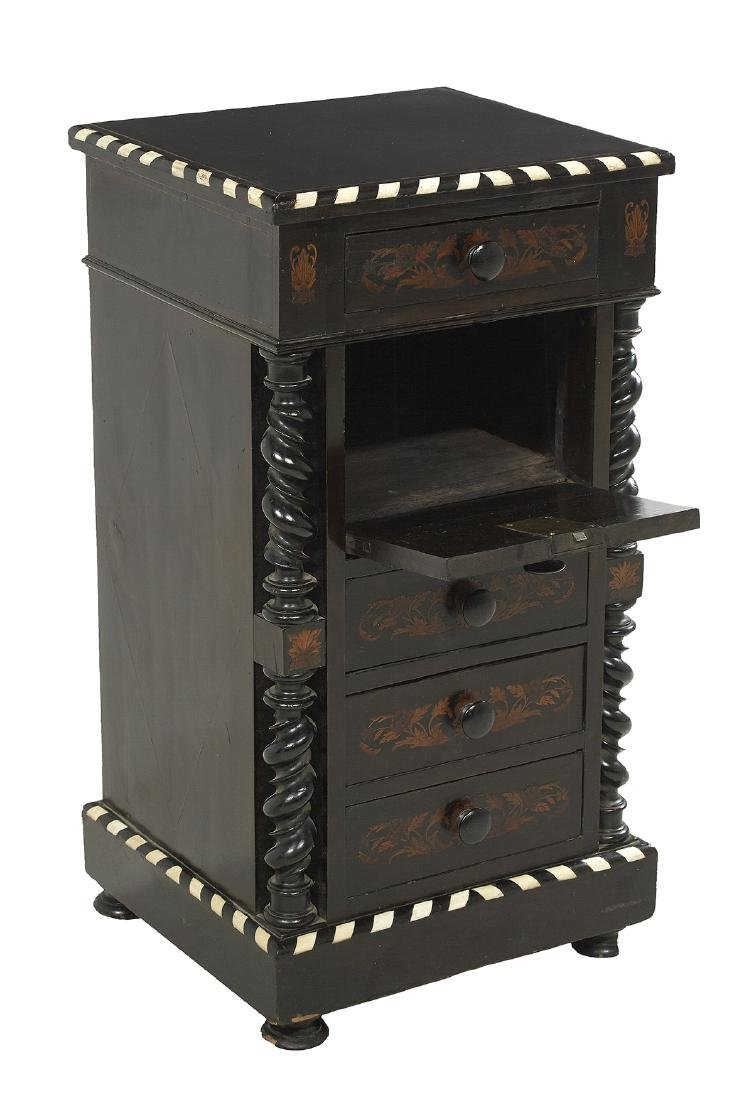 Continental Ebonized and Inlaid Side Cabinet - 2