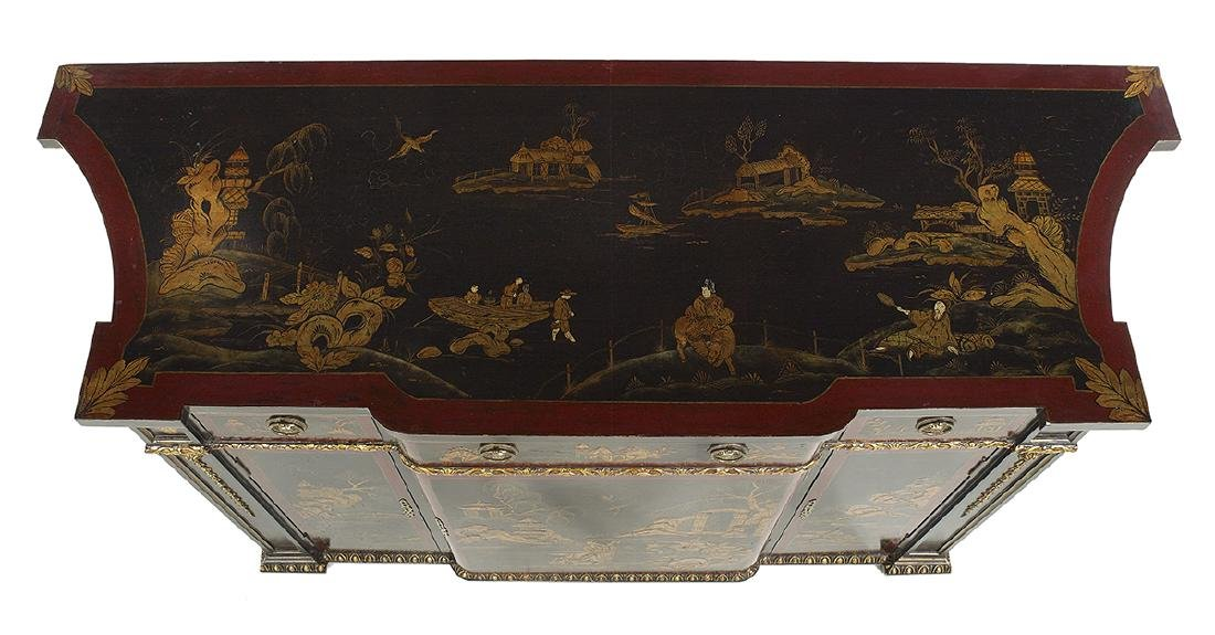 Continental Polychrome and Ebonized Cabinet - 3