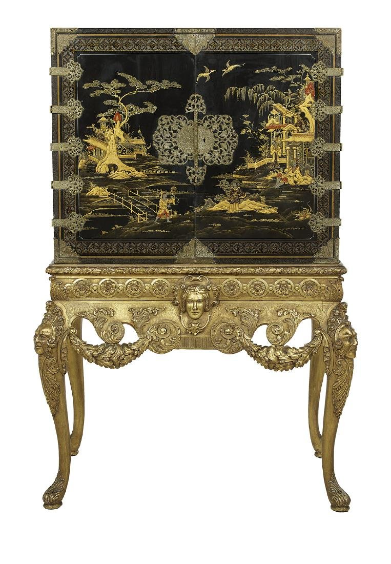 Continental Japanned Cabinet