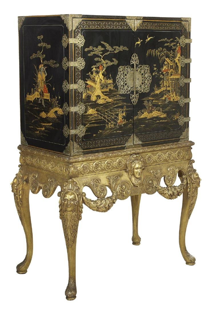Continental Japanned Cabinet - 3
